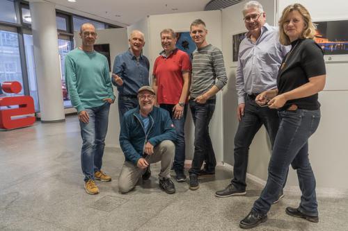 Aufbauarbeiten am 9.11.2018 bei der Sparkasse Landshut Bild 2