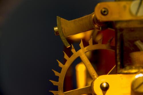 Sperrklinke einer Turmuhr von Johann Mannhardt